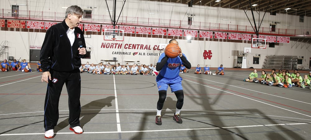 Doug Bruno Girls Basketball Camp Demonstration
